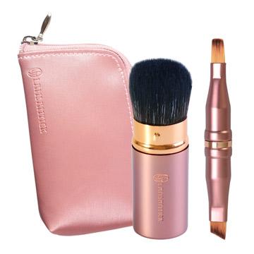 攜帶式短桿兩件組(香檳粉),蜜粉,腮紅,眼線,眉毛,遮瑕