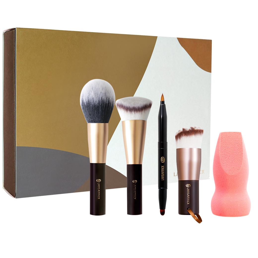 柔亮淡妝旅行組,粉底,蜜粉,腮紅,定妝,洗臉