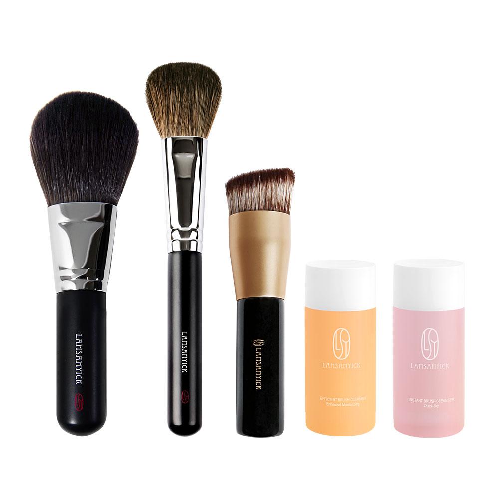 淡妝入門必選組,底妝,粉底刷,斜角底妝刷,斜角粉底刷,化纖毛
