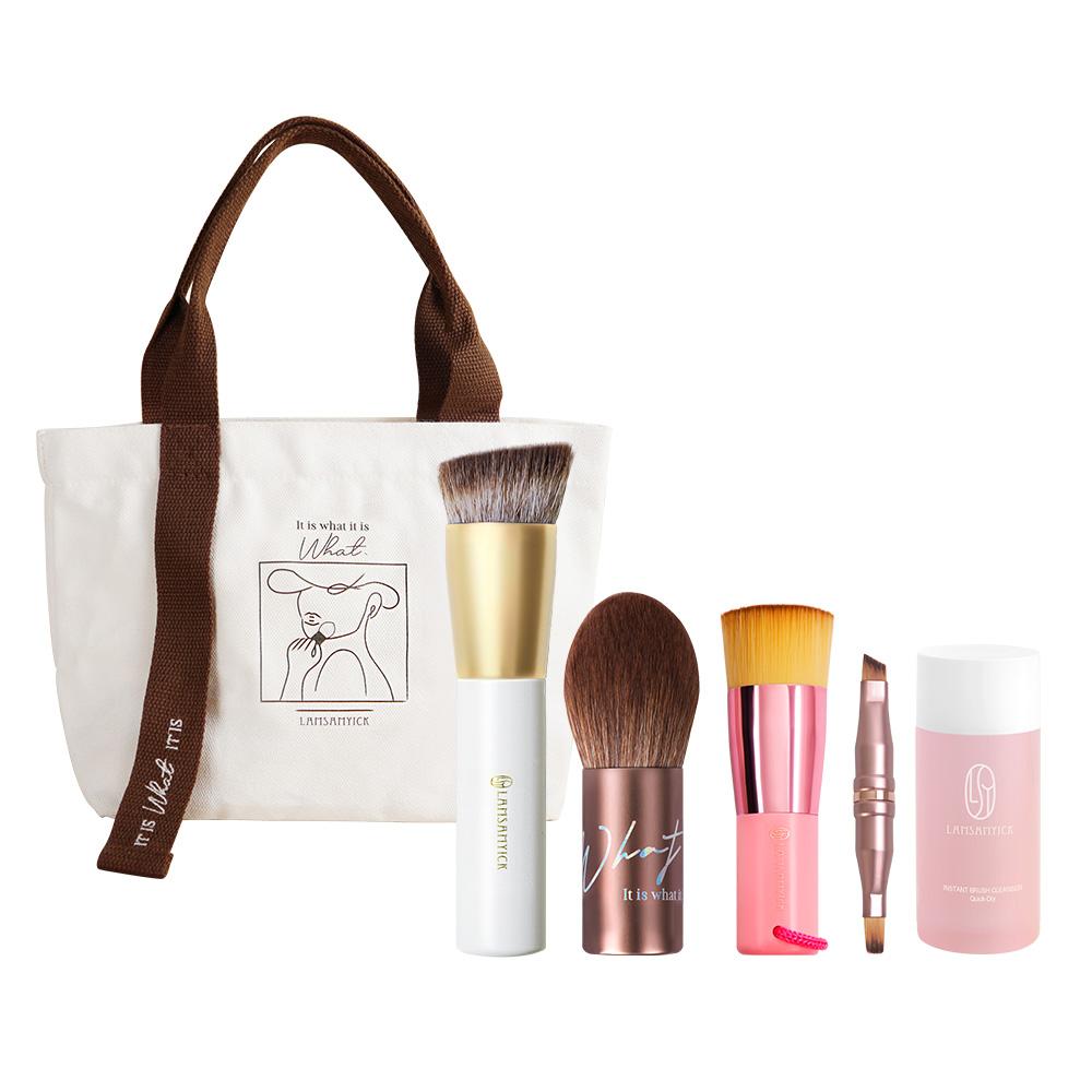 窩心獻禮組,LSY林三益,LAMSAMYICK,攜帶式蜜粉.粉餅刷,品牌帆布袋,淨顏刷