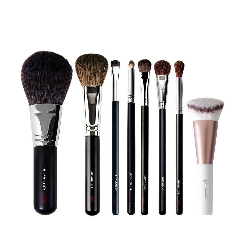 完整妝容精選組,粉底,粉底刷,蜜粉,蜜粉刷,腮紅